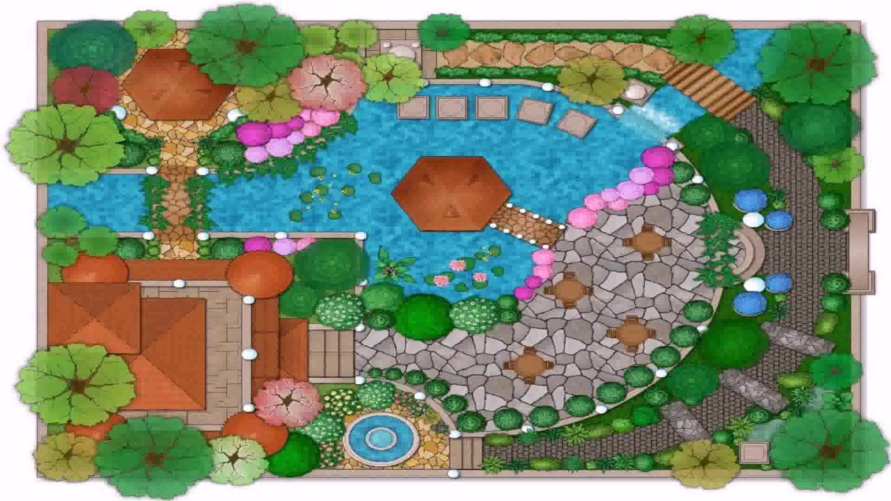 House Garden Design Drawing
