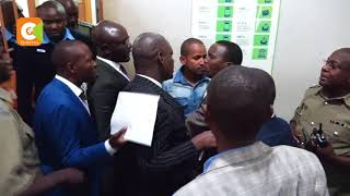 Drama at Milimani Law Courts as MP Babu Owino is rearrested