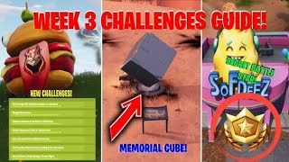 WEEK 3 SECRET BATTLE STAR LOCATION & CHALLENGE GUIDE (Fortnite)