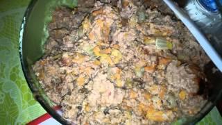 Закуска из мексиканской лепешки и фарша