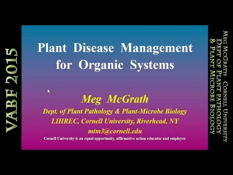 Plant Disease Management for Organic Systems