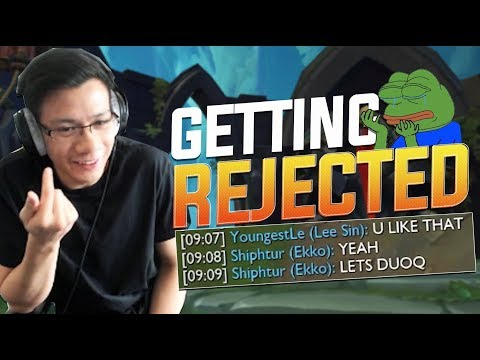 Shiphtur | MY JUNGLER REFUSED TO DUO WITH ME! (EKKO SMACKDOWN?)