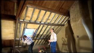 Een schuin dak afwerken met Metal Stud-profielen