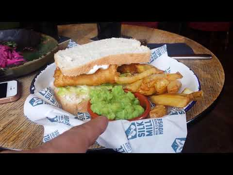 ENGLAND UK STREET FOOD FISH AND CHIPS , DERBY OLD CITY