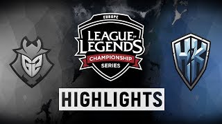 Video G2 vs. H2K - EU LCS Week 8 Day 1 Match Highlights (Spring 2018) download MP3, 3GP, MP4, WEBM, AVI, FLV Juni 2018
