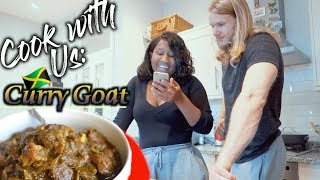 COOK WITH US: BAE & BF TRY MY CURRY GOAT FOR THE FIRST TIME!| Raven Navera