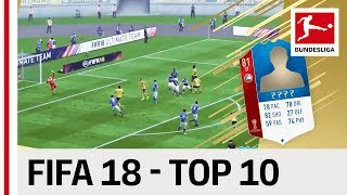 Top 10 Best Goals on FIFA 18 from Bundesliga World Cup 2018 Stars - Reus, James & Co.