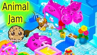 Cookieswirlc Let's Play Animal Jam Online Game - Awesome Dens , Dance Party Video(Cookieswirlc plays Animal Jam online with cookie fans! Wow check out these awesome dens with all this food! Time to party! Yumm! It was awesome playing ..., 2016-07-12T02:25:58.000Z)