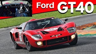 1965 Ford GT40 - Action, Fly-bys, Downshifts + AWESOME On-Board Sound - Modena 100 Ore Classic 2018