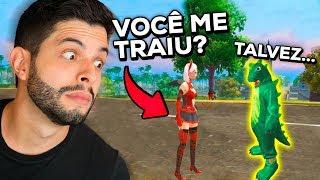 TRETA COM A EX AO VIVO?!? ELA SURTOU NESSA PARTIDA DE FREE FIRE!!!