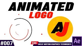 Motion Graphic Logo Animation After Effects Tutorial #007 Video   By CAA ANIMATION