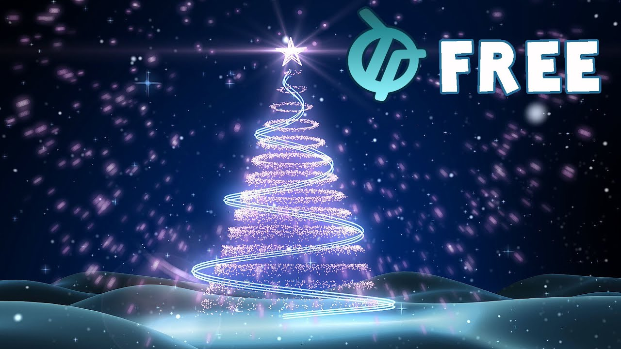free christmas tree background animation