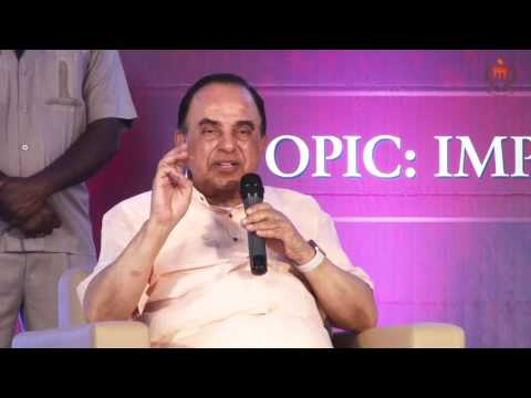 Subramanian Swamy Interaction with MIT students