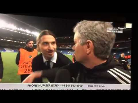 Download Ibrahimovic wishes Mourinho Good luck in UCL
