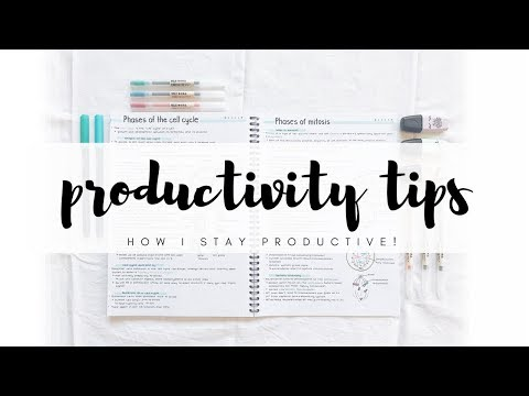 How I stay productive - 10 productivity tips | studytee