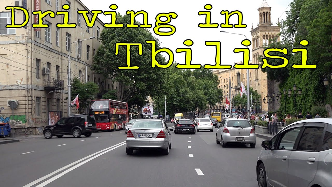 Driving in Tbilisi Georgia 4K