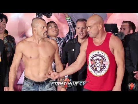 TITO ORTIZ FLICKS CHUCK LIDDELL'S BELLY DURING TENSE FACEOFF - CHUCK VS TITO 3