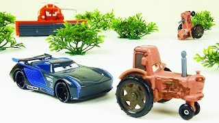 Jackson Storm goes Tractor Tipping! Stop Motion Animation Di...