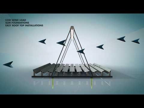 Industrial Solar Fresnel Collector Video