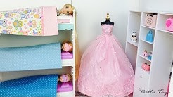 💙BARBIE PRINCESS DOLL HOUSE💙BEDROOM BUNK BED💙ELSA ANNA FROZEN RAPUNZEL💙MORNING ROUTINE DRESSES