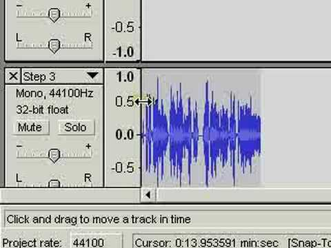 Working with multiple audio files in Audacity