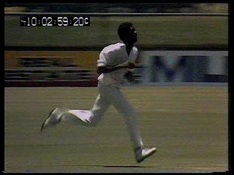 Very fast bowling - Michael Holding at Brisbane 1979