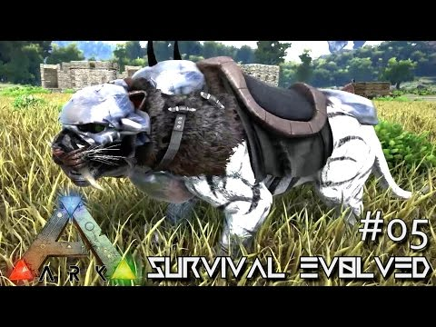 MODDED ARK: Survival Evolved - ARMORED SABERTOOTH & EPIC FORGES !!! E05 (Gameplay)