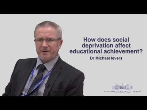 How does social deprivation affect educational achievement?