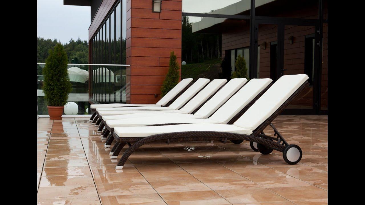 Шезлонг Грация, лежак плетеный, мебель для бассейна, мебель для .