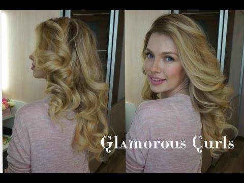 Голливудские локоны на плойку ♥ Укладка волос ♥ Glamorous Curls