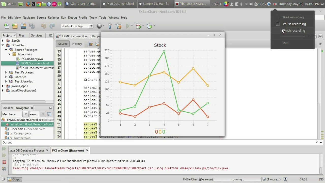 JavaFX Tutorial : Adding Line Chart to your program