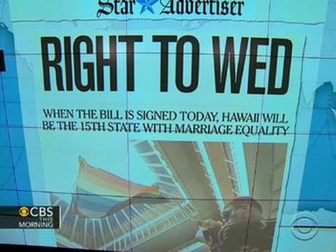Headlines: Hawaii poised to become 15th state to legalize same-sex marriage