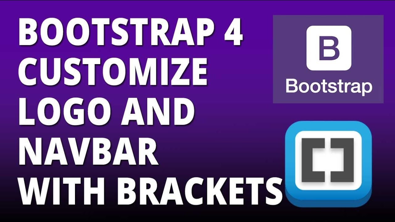 Bootstrap 4 Logo And Navbar Customization With Bootstrap 4 And Brackets Text Editor