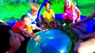 10 смешных игр на День Рождение КИРЮШИ подарки игрушки развлечение для детей Мы семья в деревне
