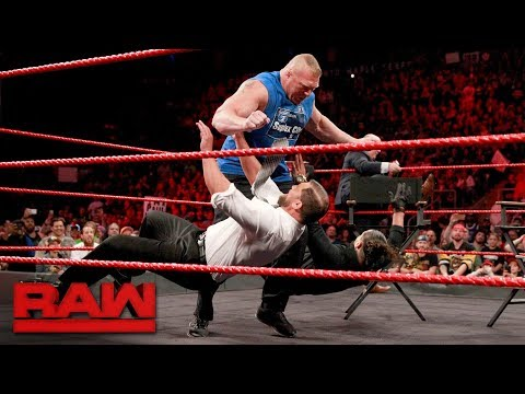 "Thumbnail: Brock Lesnar wreaks havoc on ""Miz TV"": Raw, Aug. 7, 2017"