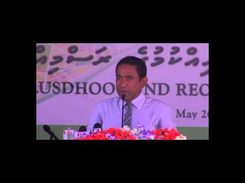 President inagurates land reclamation project of K.Thulusdhoo