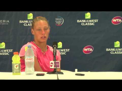 2012- Yanina Wickmayer Semifinal Press Conference