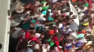 Fans Screams as wizkid try's to jump off