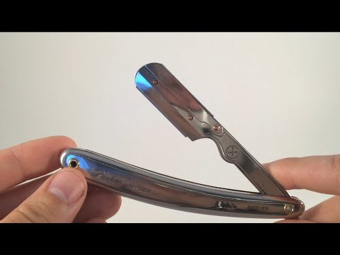 how to shave with a Parker SR1 Shavette straight razor