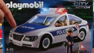 Playmobil Police Car Toy with Flashing Emergency Lights 5184 - Police Rescue Toys