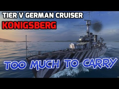 World of Warships - Ship Review: Konigsberg (WoWs gameplay)