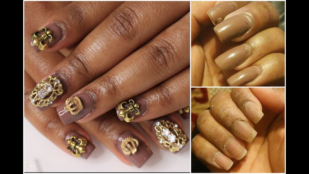 How I apply nail jewels - Queenii Rozenblad - YouTube