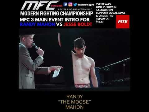 Modern Fighting Championship 3 Main Event Intros Saskatoon