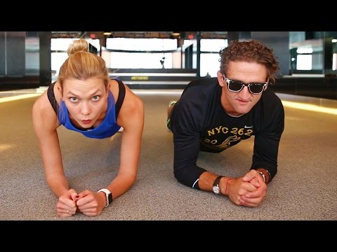 Beating Casey Neistat in a Handstand Challenge | Karlie Kloss