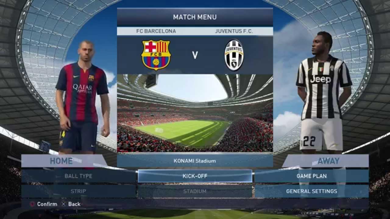 Probando Pes 2015 Barcelona Vs Juventus Duro Partido Y Analizando La Demo Gameplay Youtube