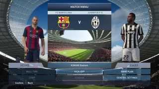 Probando PES 2015 - Barcelona Vs Juventus - Duro partido y Analizando la Demo Gameplay