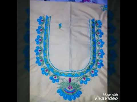 Machine Embroidery Tutorial 13 For Latest Blouse Neck Designs Youtube