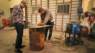 55 Gallon Drum Meat Smoker Build