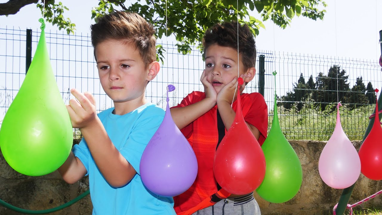 Learn Colors, Finger Family with Balloons