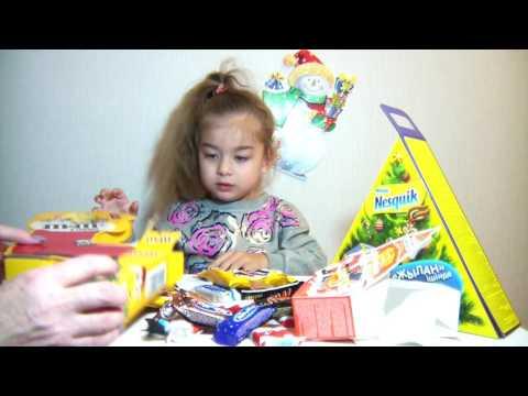 Новогодние Подарки из Сладостей. Kinder Surprise. M&M's.Nesquik